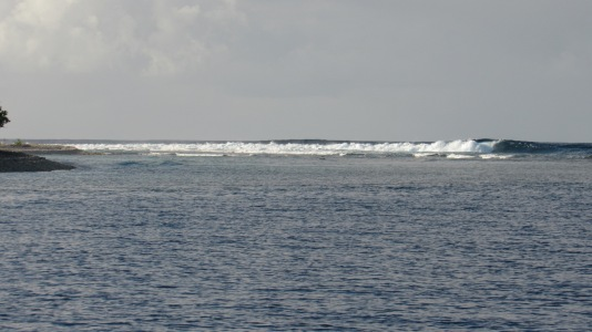 Breakers leaving Fakarava